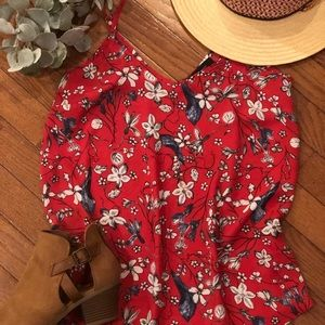 Atmosphere Sheer Red Floral Print Cami  Size 0 US